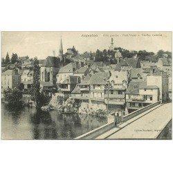 carte postale ancienne 36 ARGENTON. Vieilles Galeries Pont Vieux