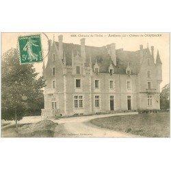 carte postale ancienne 36 ARTHON. Château Chandaire 1912