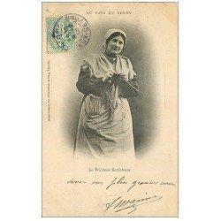 carte postale ancienne 36 BERRY. La Tricoteuse Berrichonne 1906