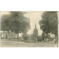 carte postale ancienne 36 BUZANCAIS. Place Mairie