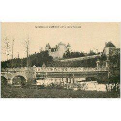 carte postale ancienne 36 CHATEAU DE CHABENET. Pont sur Bouzanne