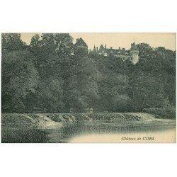 carte postale ancienne 36 CHATEAU DE CORS 1923