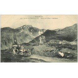 carte postale ancienne 05 Le Col de Vars. Automobile décapotable Route de St-Paul à Guillestre