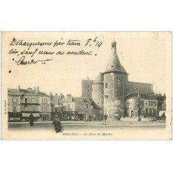 carte postale ancienne 36 ISSOUDUN. Place du Marché 1902