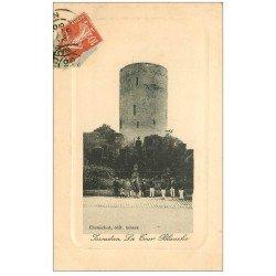 carte postale ancienne 36 ISSOUDUN. Tour Blanche 1910 Militaires