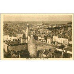 carte postale ancienne 36 ISSOUDUN. Vue 1940