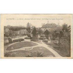 carte postale ancienne 36 LA CHATRE. Mairie et Collège Square Sand