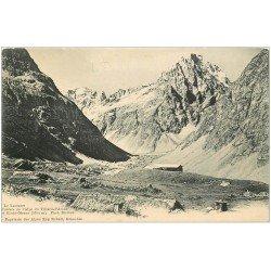 carte postale ancienne 05 LE LAUTARET. Chalets de l'Alpe du Villard d'Arène et Roche Meane
