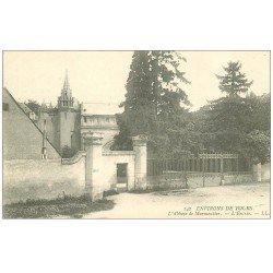 carte postale ancienne 37 ABBAYE DE MARMOUTIER. Entrée