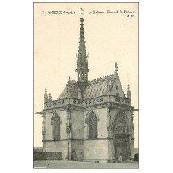 carte postale ancienne 37 AMBOISE. Chapelle Saint-Hubert