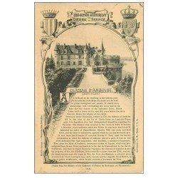 carte postale ancienne 37 AMBOISE. Château