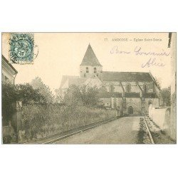 carte postale ancienne 37 AMBOISE. Eglise Saint-Denis 1904