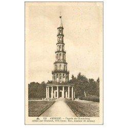 carte postale ancienne 37 AMBOISE. Pagode Chanteloup 1938