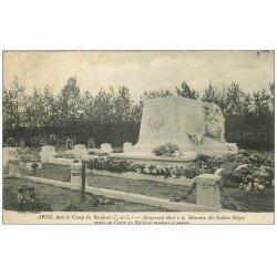 carte postale ancienne 37 AVON. Monument Soldats Belges 1916