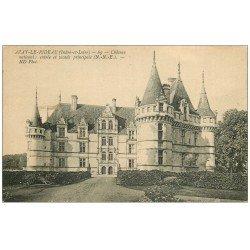 carte postale ancienne 37 AZAY-LE-RIDEAU. Château entrée 69