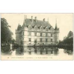 carte postale ancienne 37 AZAY-LE-RIDEAU. Château Façade 1913 LL 28