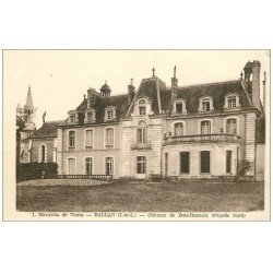 carte postale ancienne 37 BALLAN. Château Bois-Renault Façade