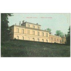 carte postale ancienne 37 BALLAN. Château des Carnaux 1905 Carneaux...