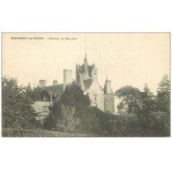 carte postale ancienne 37 BEAUMONT-EN-VERON. Château Coulaine
