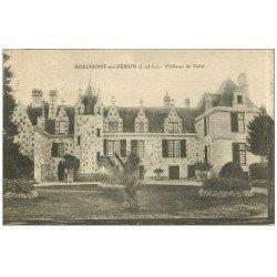 carte postale ancienne 37 BEAUMONT-EN-VERON. Château Velor 1925