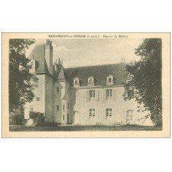 carte postale ancienne 37 BEAUMONT-EN-VERON. Manoir Détilly