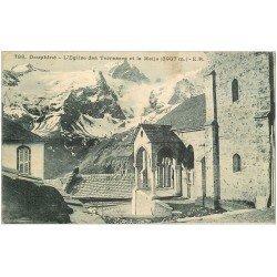 carte postale ancienne 05 MASSIF DE LA MEIJE. Eglise des Terrasses 1923