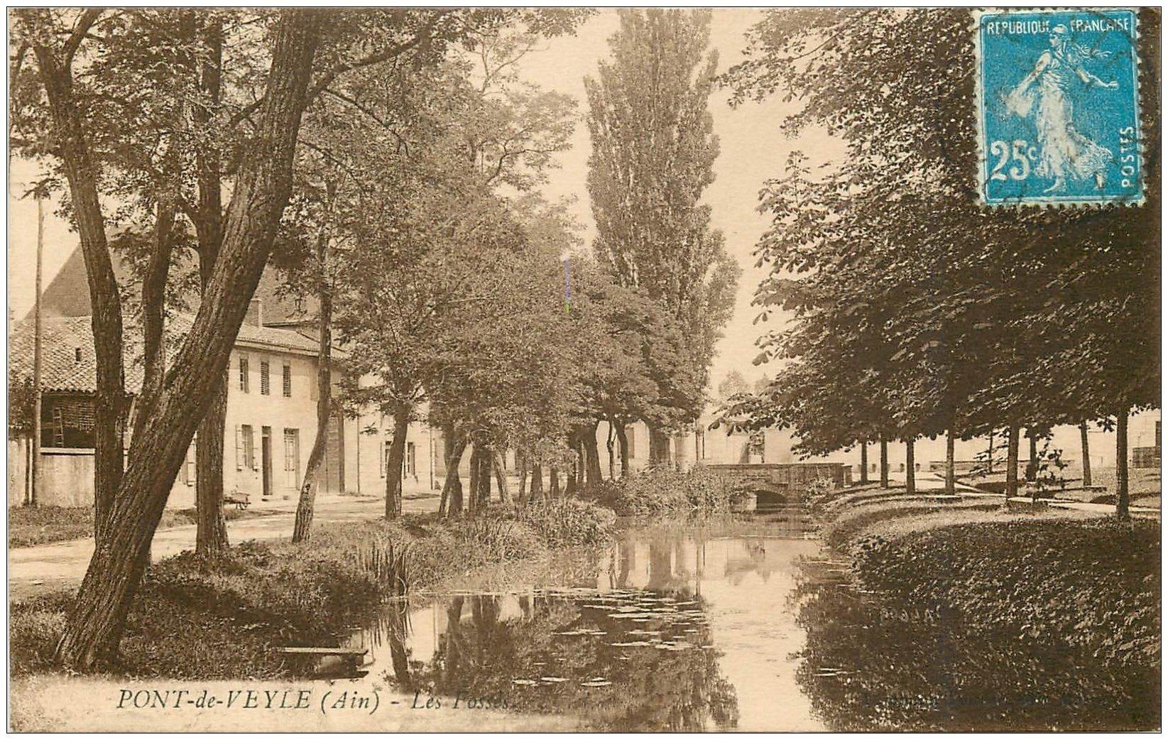 carte postale ancienne 01 PONT-DE-VEYLE. Les Fossés