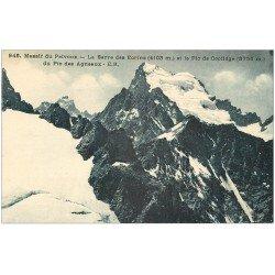 carte postale ancienne 05 MASSIF DU PELVOUX. Barre des Ecrins Pic de Coolidge et Pic des Agneaux
