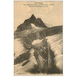carte postale ancienne 05 MASSIF DU PELVOUX. Glacier Blanc Pic de la Grande Sagne Crevasses
