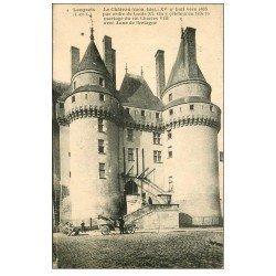carte postale ancienne 37 LANGEAIS. Château voiture ancienne décapotable 1923