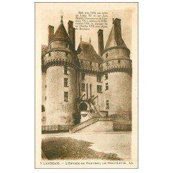 carte postale ancienne 37 LANGEAIS. Château. Entrée Pont-Levis
