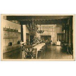 carte postale ancienne 37 LANGEAIS. Le Château Salle à manger