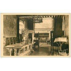 carte postale ancienne 37 LANGEAIS. Le Château Salon