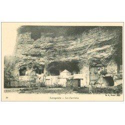 carte postale ancienne 37 LANGEAIS. Les Carrières. Troglodytes