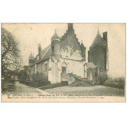 carte postale ancienne 37 LOCHES. Château Sous-préfecture 1919