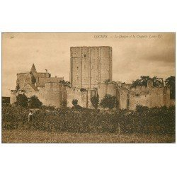 carte postale ancienne 37 LOCHES. Donjon Chapelle Louis XI