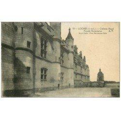 carte postale ancienne 37 LOCHES. Façade du Château 1924