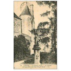 carte postale ancienne 37 LOCHES. Lévrier de Louis XII et Tour Sorel 1935