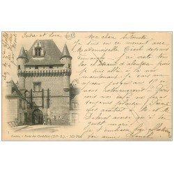carte postale ancienne 37 LOCHES. Porte Cordeliers 1902