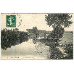 carte postale ancienne 37 MONTBAZON. L'Indre 1913