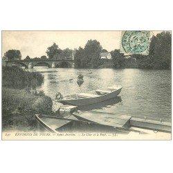 carte postale ancienne 37 SAINT-AVERTIN. Canoétiste sur le Cher 1909
