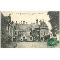 carte postale ancienne 37 SAINT-AVERTIN. Cour Château Cangé 1908