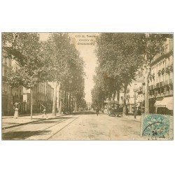 carte postale ancienne 37 TOURS. Avenue de Grammont 1906