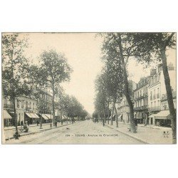 carte postale ancienne 37 TOURS. Avenue de Grammont 1906 n°194