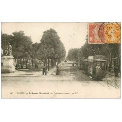 carte postale ancienne 37 TOURS. Avenue Grammont 1927