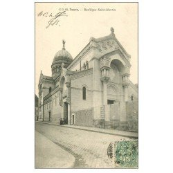 carte postale ancienne 37 TOURS. Basilique Saint-Martin 1907