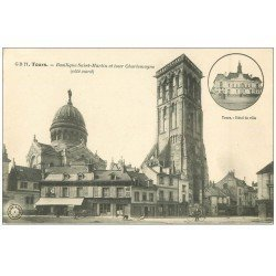 carte postale ancienne 37 TOURS. Basilique Saint-Martin Tour Charlemagne