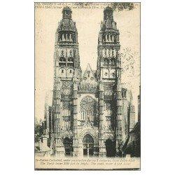 carte postale ancienne 37 TOURS. Cathédrale 1920