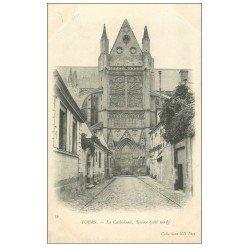 carte postale ancienne 37 TOURS. Cathédrale Rosace vers 1900