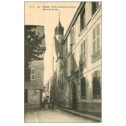 carte postale ancienne 37 TOURS. Ecole de Musique Place Carmes 1917